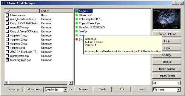 Oblivion Mod Manager 1.1.8