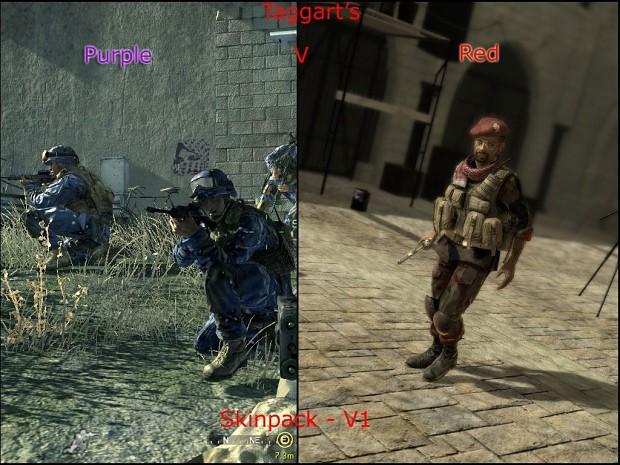 Taggart's Purple USMC v. Red Arab Forces Skin Pack V1