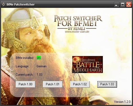 BFME PatchSwitcher 1.2