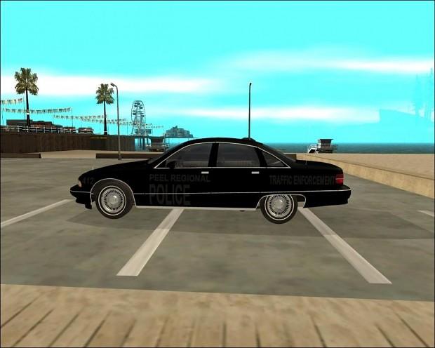 Unmarked Peel Regional Police Car