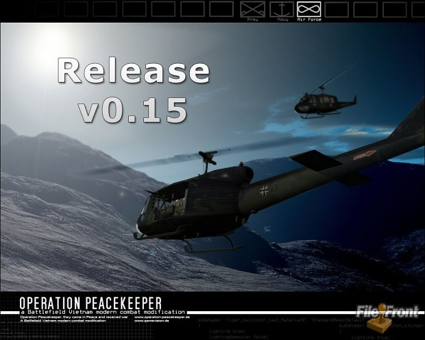 Operation Peacekeeper 0.1d to 0.15 Mod Patch
