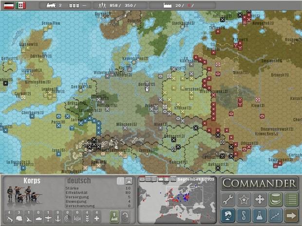 Commander: Europe at War 1.06 Demo