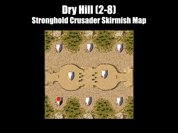 Stronghold Crusader - Dry Hill Map