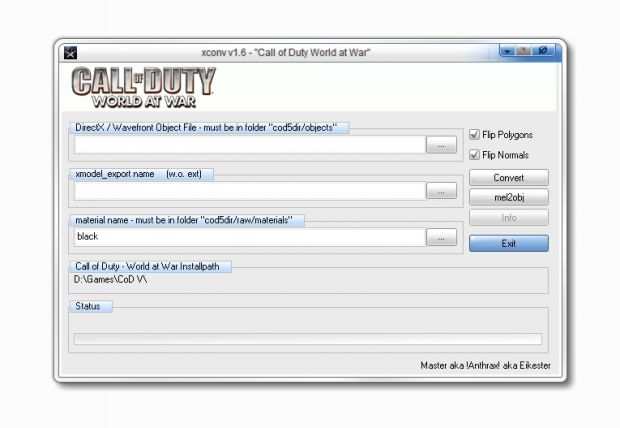x to xmodel_export converter 1.6 cod5 Version