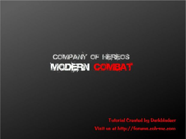 The Company of Heroes Modding Tools
