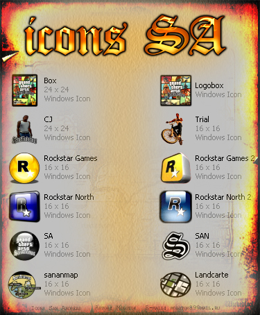 San Andreas PC Icons