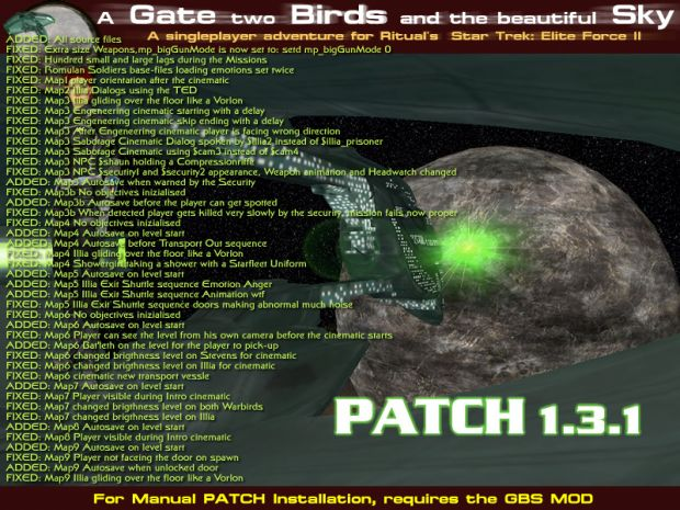 A Gate two Birds and the beautiful Sky Patch 1.3.1