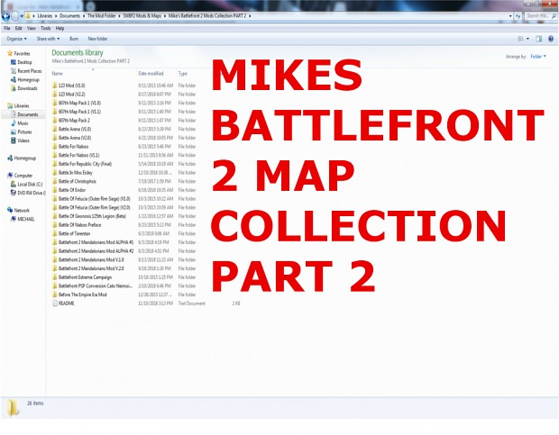 Mike's Battlefront 2 Mods & Maps Collection #2