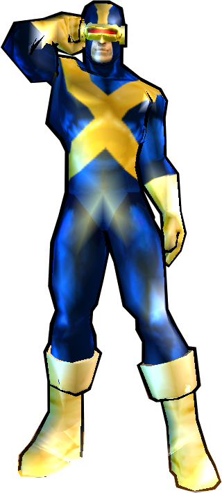 Cyclops' Yellow X-Factor Outfit - PS2 Skin addon - Marvel