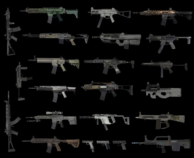 All weapons in one pack (Jan 2019) - for multiplayer servers