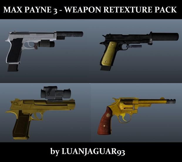 Max Payne 3 weapon retexture pack by LUAN JAGUAR