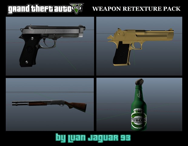 GTA V Weapon Retexture pack by LuanJaguarKing93