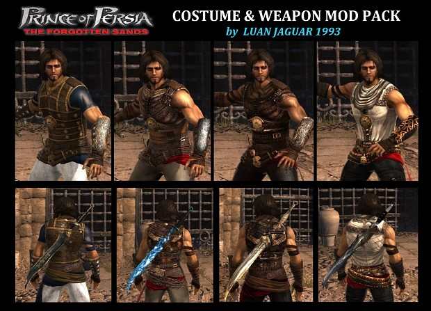 Prince of Persia The Forgotten Sands - COSTUMES & WEAPONS Mod V2 by LuanJaguar93