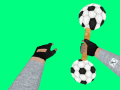 Hammer with attached with Footballs