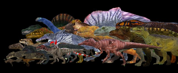 Realistic Dinosaur Eating and Drinking Behaviours