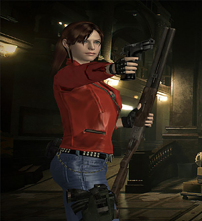 Classic Claire Redfield with Resident Evil 2 Remake Outfit addon