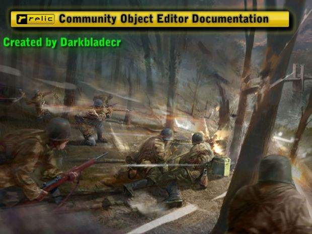 Community Object Editor Documentation - .pdf only