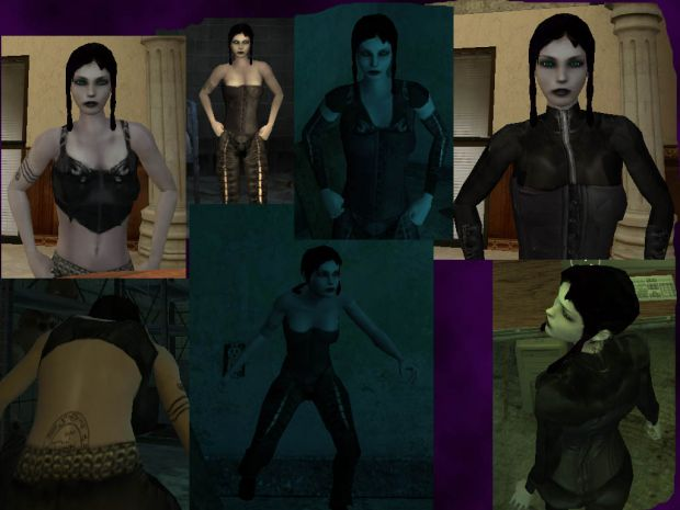 Sabbat - Lasombra Female skins (Full armour set)