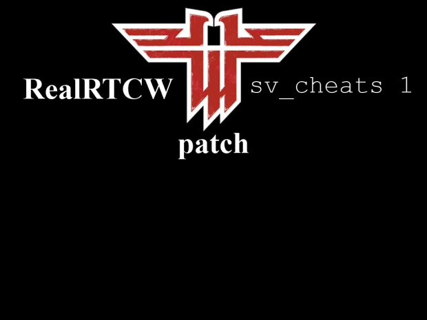 RealRTCW sv_cheats 1 Patch v1.0