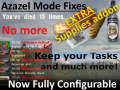 Azazel Fixes: Keep Tasks and much more + Configurable [COC 1.4.22]