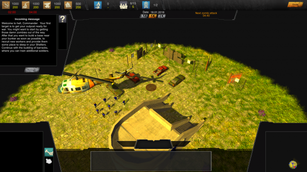 """Version 0.2.0.5 (Pre-Alpha-Demo) of the RTS Game """"The Last Humans"""""""
