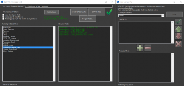 DoW Mod Manager v1.51 C# Source Code