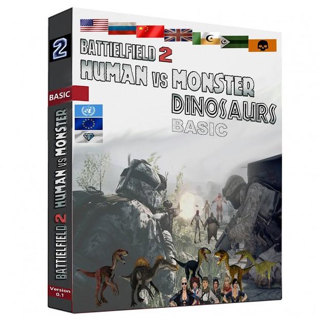 BF2 Human vs Monster Dinosaurs Basic Mod v0.1 Mappack