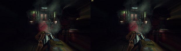 98 High quality stereoscopic screenshots of DOOM3 BFG Super Soldier mod