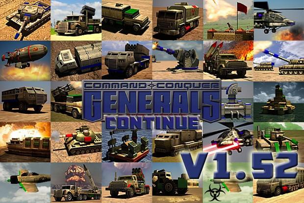 Generals Continue 1.54