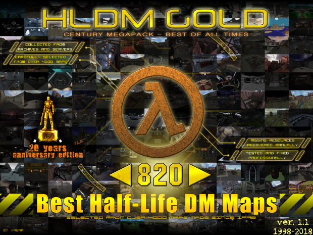 Half-Life DM GOLD multiplayer maps century megapack