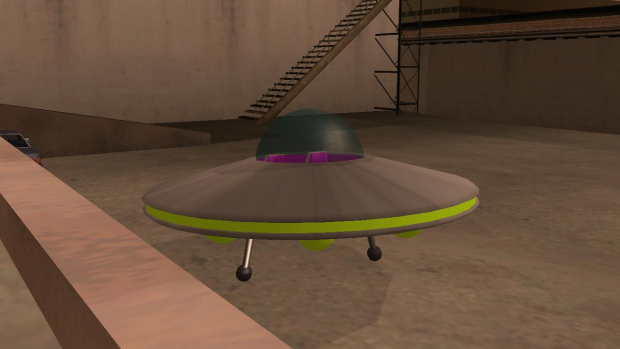 Alien flying saucer