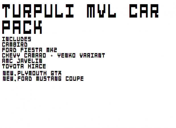 (Updated) (MVL) Turpuli MVL Vehicle Pack v2