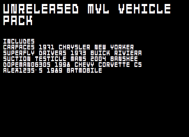 (MVL) Unreleased Conversion Pack