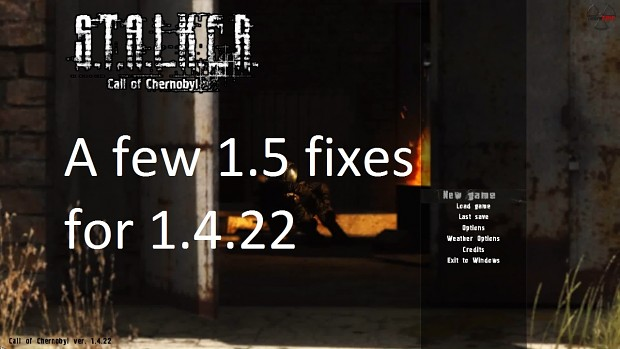 A few 1.5 small fixes for 1.4.22