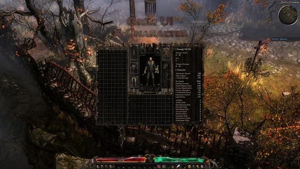 Grim UI: X-Character Mod