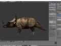 Jurassic Fight Club Pachyrhinosaurus as Styracosaurus skin