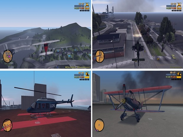 Helicopter and plane for GTA III