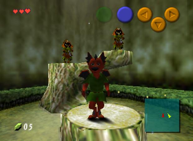 Ocarina of Time - Play as Dragon