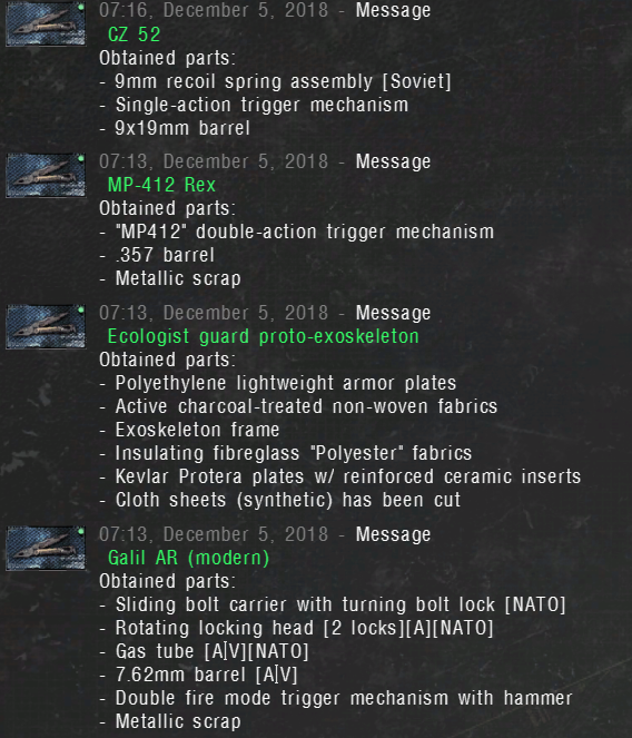 Max Disassembly Chance for vanilla Anomaly 1.5.0