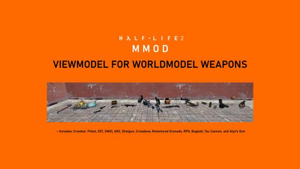 Viewmodel for Worldmodel Weapons