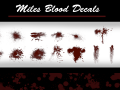 Miles Blood Decals