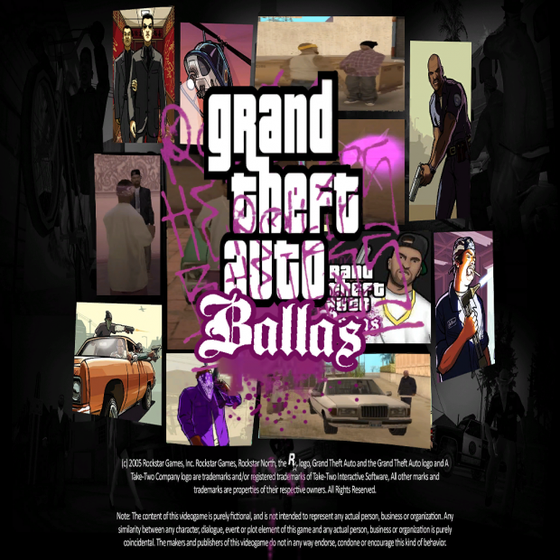 Gta Ballas hd loadscreen and menu