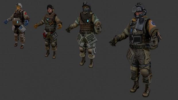 (FULL) Killzone 2 & 3 Models (ISA & Helghast Troopers)