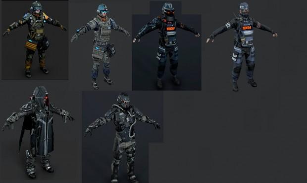 (FULL) Killzone Shadow Fall Models (VSA & Helghast Troopers)