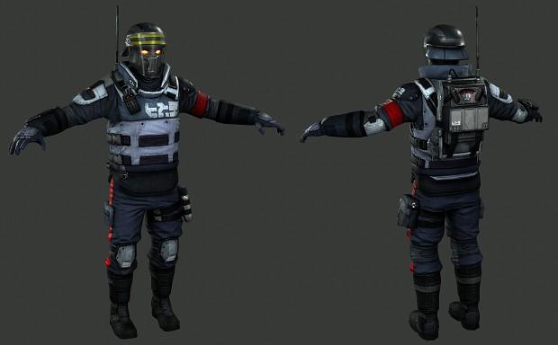 (FULL) Killzone Mercenary Helghast Police Trooper Model