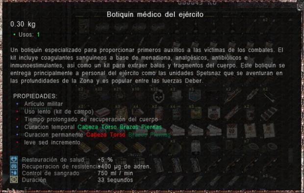 Body Health Description in Spanish