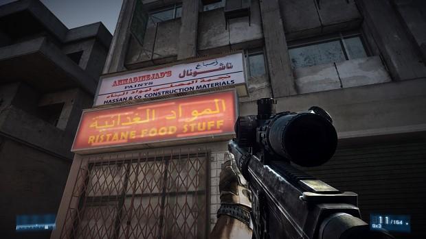 Battlefield 3 Market Signs