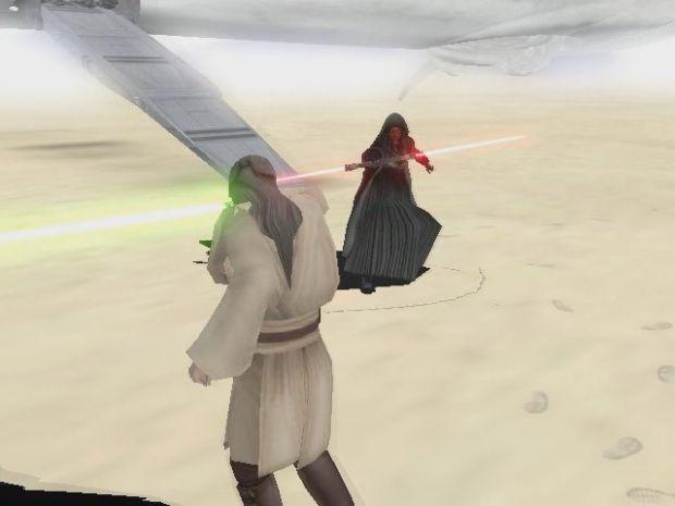 Darh Maul vs Quigon from Tatooine