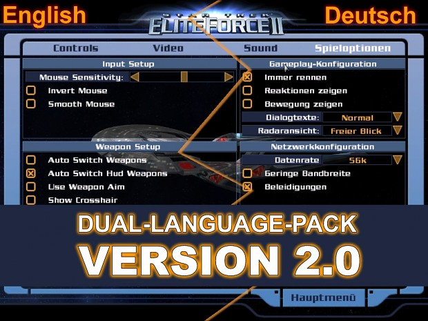 German - English Dual Languagepack Version 2.0