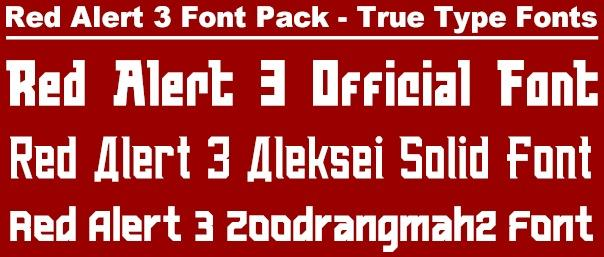 Official RA3 Font Pack